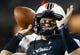 Sep 5, 2015; Cincinnati, OH, USA; Cincinnati Bearcats quarterback Gunner Kiel (11) against the Alabama A&M Bulldogs at Nippert Stadium. The Bearcats won 52-10. Mandatory Credit: Aaron Doster-USA TODAY Sports