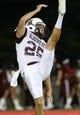 Sep 5, 2015; Cincinnati, OH, USA; Alabama A&M Bulldogs punter Nick Carden (25) against the Cincinnati Bearcats at Nippert Stadium. The Bearcats won 52-10. Mandatory Credit: Aaron Doster-USA TODAY Sports
