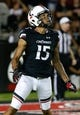Sep 5, 2015; Cincinnati, OH, USA; Cincinnati Bearcats wide receiver Chris Moore (15) against the Alabama A&M Bulldogs at Nippert Stadium. The Bearcats won 52-10. Mandatory Credit: Aaron Doster-USA TODAY Sports