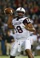 Sep 5, 2015; Cincinnati, OH, USA; Alabama A&M Bulldogs quarterback De'Angelo Ballard (18) against the Cincinnati Bearcats at Nippert Stadium. The Bearcats won 52-10. Mandatory Credit: Aaron Doster-USA TODAY Sports
