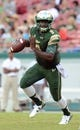 Sep 5, 2015; Tampa, FL, USA; South Florida Bulls quarterback Quentin Flowers (9) runs the the ball during the first half against the Florida A & M Rattlers at Raymond James Stadium. Mandatory Credit: Jonathan Dyer-USA TODAY Sports