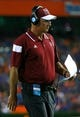 Sep 5, 2015; Gainesville, FL, USA; New Mexico State Aggies head coach Doug Martin during the second half at Ben Hill Griffin Stadium. Mandatory Credit: Kim Klement-USA TODAY Sports