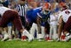 Sep 5, 2015; Gainesville, FL, USA; Florida Gators offensive lineman Antonio Riles (51) against the New Mexico State Aggies during the second half at Ben Hill Griffin Stadium. Mandatory Credit: Kim Klement-USA TODAY Sports
