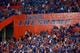 Sep 5, 2015; Gainesville, FL, USA; A general view of The Swamp where the Florida Gators play during the second half at Ben Hill Griffin Stadium. Mandatory Credit: Kim Klement-USA TODAY Sports