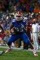 Sep 5, 2015; Gainesville, FL, USA; Florida Gators wide receiver Alvin Bailey (89) runs with the ball against the New Mexico State Aggies during the second half at Ben Hill Griffin Stadium. Mandatory Credit: Kim Klement-USA TODAY Sports
