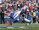 Sep 20, 2015; Orchard Park, NY, USA; Buffalo Bills strong safety Bacarri Rambo (30) breaks up a pass to New England Patriots wide receiver Julian Edelman (11) during the first half at Ralph Wilson Stadium. Mandatory Credit: Timothy T. Ludwig-USA TODAY Sports
