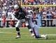 Sep 20, 2015; Orchard Park, NY, USA; Buffalo Bills middle linebacker Preston Brown (52) tackles New England Patriots running back Brandon Bolden (38) during the first half at Ralph Wilson Stadium. Mandatory Credit: Timothy T. Ludwig-USA TODAY Sports