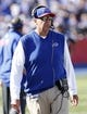 Sep 20, 2015; Orchard Park, NY, USA; Buffalo Bills head coach Rex Ryan on the sideline during the second half against the New England Patriots at Ralph Wilson Stadium. Patriots beat the Bills 40-32. Mandatory Credit: Kevin Hoffman-USA TODAY Sports