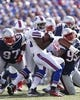Sep 20, 2015; Orchard Park, NY, USA; Buffalo Bills running back LeSean McCoy (25) runs with the ball and is tackled bt New England Patriots nose tackle Alan Branch (97) and defensive end Jabaal Sheard (93) during the second half at Ralph Wilson Stadium. Patriots beat the Bills 40-32. Mandatory Credit: Kevin Hoffman-USA TODAY Sports