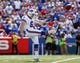 Sep 20, 2015; Orchard Park, NY, USA; Buffalo Bills punter Colton Schmidt (6) during the second half against the New England Patriots at Ralph Wilson Stadium. Patriots beat the Bills 40-32. Mandatory Credit: Kevin Hoffman-USA TODAY Sports