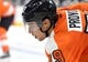 Sep 21, 2015; Philadelphia, PA, USA; Philadelphia Flyers defenseman Ivan Provorov (79) during a preseason game against the New York Islanders at PPL Center. The Flyers defeated the Islanders, 5-3. Mandatory Credit: Eric Hartline-USA TODAY Sports
