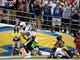 Oct 4, 2015; San Diego, CA, USA;  San Diego Chargers tight end Ladarius Green (89) scores on a 19-yard pass play in the third quarter against Cleveland Browns at Qualcomm Stadium. Mandatory Credit: Robert Hanashiro-USA TODAY Sports