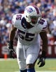 Sep 20, 2015; Orchard Park, NY, USA; Buffalo Bills defensive end Jerry Hughes (55) against the New England Patriots at Ralph Wilson Stadium. Patriots defeat the Bills 40 to 32.  Mandatory Credit: Timothy T. Ludwig-USA TODAY Sports