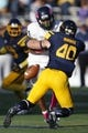 Oct 10, 2015; Toledo, OH, USA; Toledo Rockets linebacker Chase Murdock (40) breaks up a pass intended for Kent State Golden Flashes running back Raekwon James (24) during the third quarter at Glass Bowl. Rockets win 38-7. Mandatory Credit: Raj Mehta-USA TODAY Sports