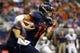 Oct 10, 2015; San Antonio, TX, USA; UTSA Roadrunners quarterback Dalton Sturm (14) runs the ball against the Louisiana Tech Bulldogs during the first half at Alamodome. Mandatory Credit: Soobum Im-USA TODAY Sports