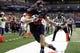 Oct 10, 2015; San Antonio, TX, USA; UTSA Roadrunners tight end David Morgan II (82) makes a touchdown catch against the Louisiana Tech Bulldogs during the second half at Alamodome. Mandatory Credit: Soobum Im-USA TODAY Sports