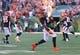Oct 11, 2015; Cincinnati, OH, USA; Cincinnati Bengals defensive end Carlos Dunlap (96) against the Seattle Seahawks at Paul Brown Stadium. The Bengals won 27-24. Mandatory Credit: Aaron Doster-USA TODAY Sports