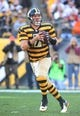 Nov 1, 2015; Pittsburgh, PA, USA; Pittsburgh Steelers quarterback Ben Roethlisberger (7) looks to pass against the Cincinnati Bengals during the third quarter at Heinz Field. The Bengals won 16-10. Mandatory Credit: Charles LeClaire-USA TODAY Sports