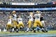 Nov 8, 2015; Charlotte, NC, USA; Green Bay Packers quarterback Aaron Rodgers (12) passes the ball in the second quarter at Bank of America Stadium. Mandatory Credit: Bob Donnan-USA TODAY Sports
