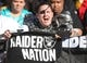 Nov 8, 2015; Pittsburgh, PA, USA; Oakland Raiders fan Jaree Sparanza of Annapolis, MD cheers for the Raiders against the Pittsburgh Steelers during the second quarter at Heinz Field. The Steelers won 38-35. Mandatory Credit: Charles LeClaire-USA TODAY Sports