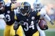 Nov 8, 2015; Pittsburgh, PA, USA; Pittsburgh Steelers running back DeAngelo Williams (34) runs the ball against the Oakland Raiders during the third quarter at Heinz Field. The Steelers won 38-35. Mandatory Credit: Charles LeClaire-USA TODAY Sports