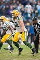 Nov 8, 2015; Charlotte, NC, USA; Green Bay Packers inside linebacker Clay Matthews (52) lines up against the Carolina Panthers during the second half at Bank of America Stadium. The Panthers defeated the Packers 37-29. Mandatory Credit: Jeremy Brevard-USA TODAY Sports