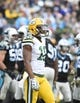 Nov 8, 2015; Charlotte, NC, USA; Green Bay Packers wide receiver Randall Cobb (18) on the field in the second quarter at Bank of America Stadium. Mandatory Credit: Bob Donnan-USA TODAY Sports