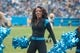Nov 8, 2015; Charlotte, NC, USA; The Carolina Panthers TopCats perform during a timeout in the game against the Green Bay Packers at Bank of America Stadium. The Panthers defeated the Packers 37-29. Mandatory Credit: Jeremy Brevard-USA TODAY Sports