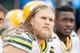 Nov 8, 2015; Charlotte, NC, USA; Green Bay Packers inside linebacker Clay Matthews (52) sits on the bench during the first half against the Carolina Panthers at Bank of America Stadium. The Panthers defeated the Packers 37-29. Mandatory Credit: Jeremy Brevard-USA TODAY Sports