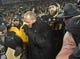 Nov 21, 2015; Columbia, MO, USA; Missouri Tigers head coach Gary Pinkel leaves the field after the game against the Tennessee Volunteers at Faurot Field. Tennessee won the game 19-8. Mandatory Credit: Denny Medley-USA TODAY Sports