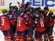 Nov 27, 2015; Sunrise, FL, USA; The Florida Panthers celebrate on the ice after defeating the New York Islanders 3-2 in a shootout at BB&T Center. Mandatory Credit: Robert Mayer-USA TODAY Sports