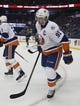 Nov 28, 2015; Tampa, FL, USA; New York Islanders center John Tavares (91) skates to the bench after scoring what would be the game winning goal during the third period against the Tampa Bay Lightning at Amalie Arena.The Islanders won 3-2. Mandatory Credit: Reinhold Matay-USA TODAY Sports