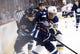 Dec 15, 2015; Winnipeg, Manitoba, CAN; St. Louis Blues left wing Alexander Steen (20) battles Winnipeg Jets defenseman Jacob Trouba (8) during the first period at MTS Centre. Mandatory Credit: Bruce Fedyck-USA TODAY Sports