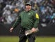 Dec 20, 2015; Oakland, CA, USA; Green Bay Packers head coach Mike McCarthy reacts during an NFL football game against the Oakland Raiders at O.co Coliseum. The Packers defeated the Raiders 30-20. Mandatory Credit: Kirby Lee-USA TODAY Sports