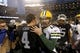Dec 20, 2015; Oakland, CA, USA; Green Bay Packers quarterback Aaron Rodgers (12) meets with Oakland Raiders quarterback Derek Carr (4) after the game at O.co Coliseum. The Packers defeated the Raiders 30-20. Mandatory Credit: Cary Edmondson-USA TODAY Sports