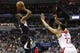 Dec 28, 2015; Washington, DC, USA; Los Angeles Clippers guard Chris Paul (3) shoots the ball over Washington Wizards forward Otto Porter Jr. (22) in the second quarter at Verizon Center. The Clippers won 108-91. Mandatory Credit: Geoff Burke-USA TODAY Sports