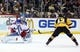 Feb 10, 2016; Pittsburgh, PA, USA; New York Rangers goalie Henrik Lundqvist (30) makes a glove save against Pittsburgh Penguins left wing Conor Sheary (43) during the second period at the CONSOL Energy Center. Mandatory Credit: Charles LeClaire-USA TODAY Sports