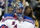 Feb 10, 2016; Pittsburgh, PA, USA; New York Rangers goalie Henrik Lundqvist (30) looks on against the Pittsburgh Penguins during the second period at the CONSOL Energy Center. The Rangers shutout the Penguins 3-0. Mandatory Credit: Charles LeClaire-USA TODAY Sports