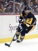 Feb 10, 2016; Pittsburgh, PA, USA; Pittsburgh Penguins center Matt Cullen (7) skates with the puck against the New York Rangers during the first period at the CONSOL Energy Center.  The Rangers won 3-0. Mandatory Credit: Charles LeClaire-USA TODAY Sports