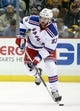 Feb 10, 2016; Pittsburgh, PA, USA; New York Rangers defenseman Keith Yandle (93) skates with the puck against the Pittsburgh Penguins during the first period at the CONSOL Energy Center. Mandatory Credit: Charles LeClaire-USA TODAY Sports