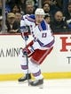 Feb 10, 2016; Pittsburgh, PA, USA; New York Rangers right wing Kevin Hayes (13) skates with the puck against the Pittsburgh Penguins during the third period at the CONSOL Energy Center. The Rangers won 3-0. Mandatory Credit: Charles LeClaire-USA TODAY Sports