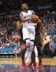 Apr 29, 2016; Charlotte, NC, USA; Charlotte Hornets guard Kemba Walker (15) moves to the basket during the first half in game six of the first round of the NBA Playoffs against the Miami Heat at Time Warner Cable Arena. Mandatory Credit: Sam Sharpe-USA TODAY Sports