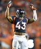 Oct 24, 2016; Denver, CO, USA; Denver Broncos strong safety T.J. Ward (43) rallies the crowd in the second half against the Houston Texans at Sports Authority Field at Mile High. The Broncos defeated the Texans 27-9. Mandatory Credit: Ron Chenoy-USA TODAY Sports
