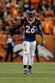 Oct 24, 2016; Denver, CO, USA; Denver Broncos free safety Darian Stewart (26) in the fourth quarter against the Houston Texans at Sports Authority Field at Mile High. Mandatory Credit: Isaiah J. Downing-USA TODAY Sports