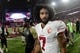 Nov 13, 2016; Glendale, AZ, USA;  San Francisco 49ers quarterback Colin Kaepernick (7) looks on after losing 23-20 to the Arizona Cardinals at University of Phoenix Stadium. Mandatory Credit: Matt Kartozian-USA TODAY Sports