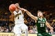 Dec 5, 2016; Iowa City, IA, USA; Iowa Hawkeyes guard Maishe Dailey (1) is defended by Stetson Hatters guard Luke Doyle (33) during the second half at Carver-Hawkeye Arena. Iowa won 95-68. Mandatory Credit: Jeffrey Becker-USA TODAY Sports