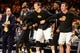 Dec 5, 2016; Iowa City, IA, USA; The Hawkeyes bench celebrates during the second half against the Iowa State Cyclones at Carver-Hawkeye Arena. Iowa won 78-64. Mandatory Credit: Jeffrey Becker-USA TODAY Sports