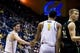 Dec 17, 2016; Berkeley, CA, USA; California Golden Bears guard Sam Singer (2) and forward Ivan Rabb (1) react in the game against the Cal Poly Mustangs in the first period at Haas Pavilion. Mandatory Credit: John Hefti-USA TODAY Sports