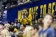 Dec 17, 2016; Berkeley, CA, USA;  The California Golden Bears mascot watches the game against the Cal Poly Mustangsin the second period at Haas Pavilion. Cal won 81-55. Mandatory Credit: John Hefti-USA TODAY Sports
