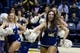 Dec 17, 2016; Berkeley, CA, USA;  California Golden Bears cheerleaders perform during a break in the game against the Cal Poly Mustangs in the second period at Haas Pavilion. Cal won 81-55. Mandatory Credit: John Hefti-USA TODAY Sports